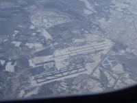 新千歳空港の上空通過