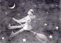 夜空の少女